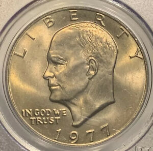 1977 MS66 EISENHOWER IKE CLAD DOLLAR PCGS GRADED BU CERTIFIED GEM NICE STRIKE