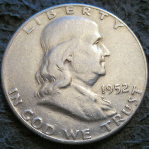 AS SHOWN   1952 D FRANKLIN HALF DOLLAR // 90  SILVER // MC 527
