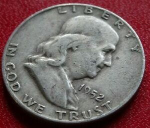 90  SILVER 1952 D FRANKLIN HALF DOLLAR COIN OLD DENVER MINT 50C COLLECTION
