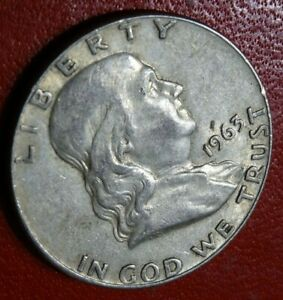 WELL DETAILED 1963 D FRANKLIN HALF DOLLAR COIN OLD 90  SILVER DENVER MINT 50C