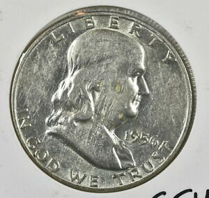 1956 SILVER FRANKLIN HALF DOLLAR 50C   VF