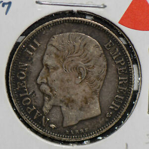 FRANCE 1857  SILVER FRANC F0194 COMBINE SHIPPING