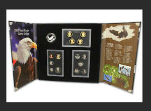 2008 AMERICAN LEGACY COLLECTION PROOF SET W/ BALD EAGLE SILVER DOLLAR