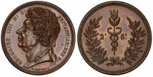Click now to see the BUY IT NOW Price! BRITAIN GEORGE IV   1824 25  BRONZED AE PATTERN HALFCROWN. PCGS PR64BN ESC 2393