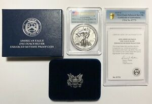 Click now to see the BUY IT NOW Price! 2019 S $1 SILVER EAGLE ENHANCED REVERSE PROOF PR70 FS FIRST STRIKE PCGS W/ COA