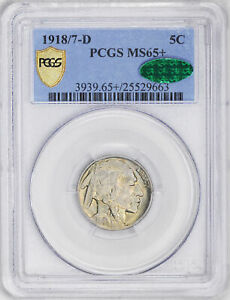 Click now to see the BUY IT NOW Price! 1918/7 D BUFFALO 5C PCGS MS 65