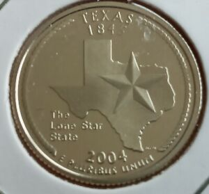 2004 TEXAS 25 CENT PROOF WASHINGTON QUARTER DOLLAR COIN SAN FRANCISCO UNC