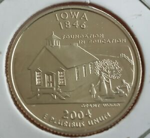 2004 S IOWA 25 CENT PROOF WASHINGTON QUARTER DOLLAR COIN SAN FRANCISCO UNC
