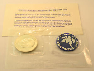 UNITED STATES 1972 EISENHOWER BLUE PACK 40   SILVER IKE DOLLAR COIN