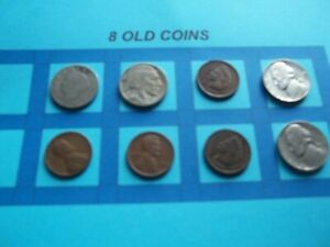 VINTAGE LOT OF 8 OLD AND  COINS THAT ARE 50 125 YEARS OLD  8 COINS  IVBW66