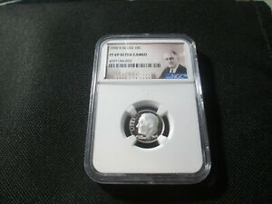 1996 S SILVER 10C NGC PF 69 ULTRA CAMEO ROOSEVELT NGC CERTIFIED 4597184 022