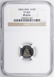 Click now to see the BUY IT NOW Price! 1843 LIBERTY SEATED H10C NGC PR 67