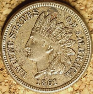 1861 INDIAN HEAD CENT  CN    ALMOST UNC DETAILS ROTATED REVERSE  J935