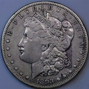 Click now to see the BUY IT NOW Price! 1893 CC MORGAN SILVER DOLLAR VF