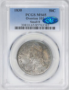 Click now to see the BUY IT NOW Price! 1830 CAPPED BUST 50C PCGS MS 65