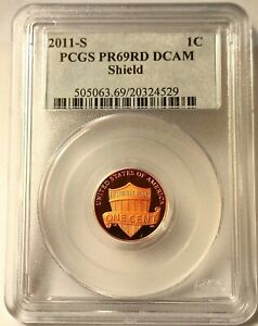 Click now to see the BUY IT NOW Price! PCGS PR 69RD DCAM 2011 S 1C LINCOLN PROOF SHIELD CENT DEEP CAMEO TONE
