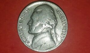 1939 P JEFFERSON NICKEL ERROR  DOUBLED MONTICELLO GOOD/VERY FINE CONDITION