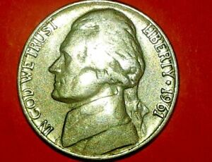 1961 D/D JEFFERSON NICKEL ERROR DOUBLED DIE OBVERSE AND REVERSE NICE