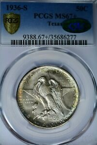 Click now to see the BUY IT NOW Price! 1936 S 50C TEXAS PCGS MS67  CAC