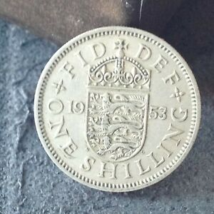 1953 ENGLISH ONE SHILLING COIN 1/  FREE UK P&P