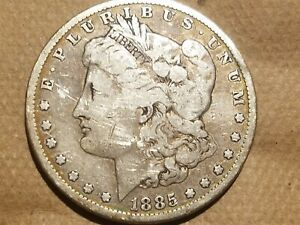 Click now to see the BUY IT NOW Price! 1885 MORGAN SILVER DOLLAR LIBERTY HEAD $1 COIN AMERICAN EAGLE REVERSE