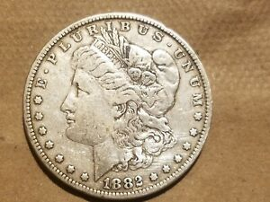 Click now to see the BUY IT NOW Price! 1882 P MORGAN SILVER DOLLAR LIBERTY HEAD $1 COIN AMERICAN EAGLE VF DETAILS