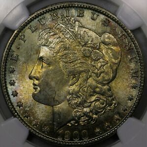 Click now to see the BUY IT NOW Price! 1900 O MORGAN SILVER DOLLAR TONED NGC MS 64