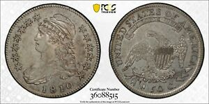 Click now to see the BUY IT NOW Price! 1810 BUST HALF DOLLAR PCGS AU 53 TRUEVIEW