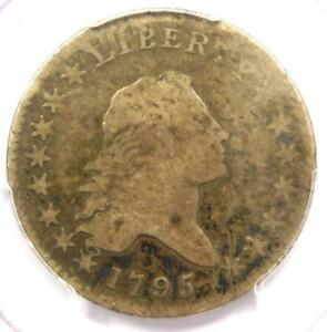 1795 FLOWING HAIR BUST HALF DOLLAR 50C   CERTIFIED PCGS VG DETAILS    COIN