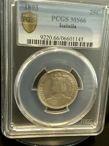 Click now to see the BUY IT NOW Price! 1893 ISABELLA COMMEMORATIVE QUARTER DOLLAR PCGS GRADED MS 66