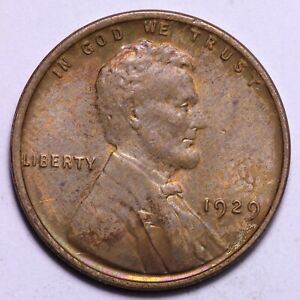 UNCIRCULATED 1929 LINCOLN WHEAT CENT PENNY       R10RCR