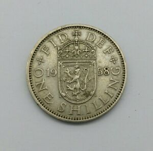 1958 QUEEN ELIZABETH II SCOTTISH ONE SHILLING