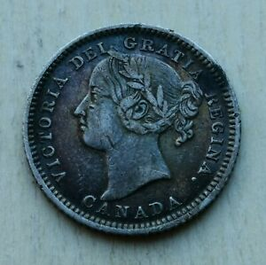 CANADA 10 CENTS 1882 H