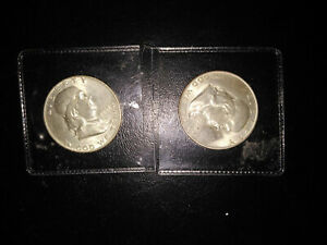 1949 D & 1951 D FRANKLIN HALF DOLLAR LOT 90  SILVER