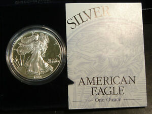 1994-P Proof Silver American Eagle Dollar $1 PCGS PF69 DCAM ASE
