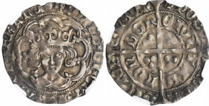 Click now to see the BUY IT NOW Price! ENGLAND. RICHARD III  1483 85  HALVED SUNROSE 2 AR GROAT NGC XF45 LONDON S 2158