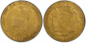 Click now to see the BUY IT NOW Price! ECUADOR. 1855/2 GJ AV 8 ESCUDOS. PCGS AU53.  QUITO MINT FR. 8; ONZA 1774.