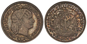 Click now to see the BUY IT NOW Price! HAITI. 1881  A  AR 10 CENTIMES. NGC PR66.  PARIS MINT KM 44.OLD NGC HOLDER.