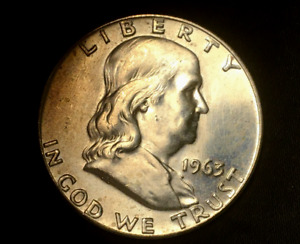 1963 D FRANKLIN HALF DOLLAR UNCIRCULATED UNC F