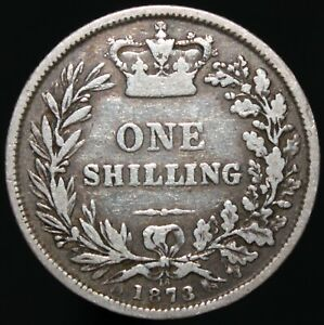 1873   VICTORIA ONE SHILLING 'DIE 16'   SILVER   COINS   KM COINS