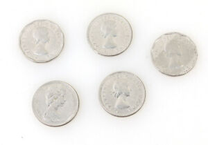 CANADA FIVE CENT NICKEL COIN SET OF 5//COLLECTIBLE COIN
