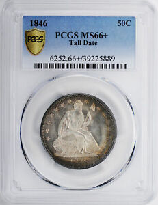 Click now to see the BUY IT NOW Price! 1846 LIBERTY SEATED 50C PCGS MS 66