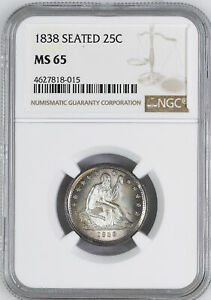 Click now to see the BUY IT NOW Price! 1838 LIBERTY SEATED 25C NGC MS 65