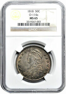 Click now to see the BUY IT NOW Price! 1818 CAPPED BUST 50C NGC MS 65