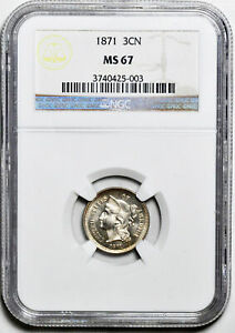 Click now to see the BUY IT NOW Price! 1871 NICKEL 3CN NGC MS 67