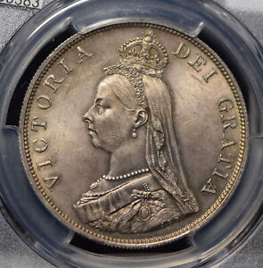 Click now to see the BUY IT NOW Price! GREAT BRITAIN 1889 DOUBLE FLORIN PCGS MS64 GORGEOUS INCANDESCENT TONED PC0383 CO
