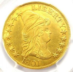 1801 CAPPED BUST GOLD EAGLE $10   PCGS UNCIRCULATED DETAIL  UNC MS     COIN