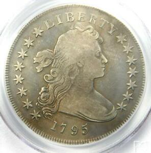 1795 DRAPED BUST SILVER DOLLAR  $1 COIN SMALL EAGLE . PCGS GENUINE. FINE DETAIL