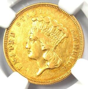 1854 O THREE DOLLAR INDIAN GOLD COIN $3   NGC XF DETAILS  EF