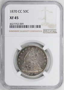Click now to see the BUY IT NOW Price! 1870 CC LIBERTY SEATED 50C NGC XF 45